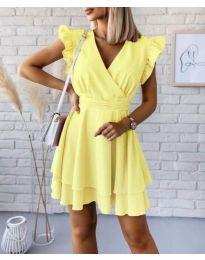 Екстравагантна рокля в жълто - код 409