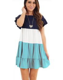 Свободна рокля в цвят тюркоаз - код 741