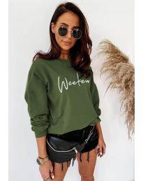 Дамска блуза в маслено зелено - код 917