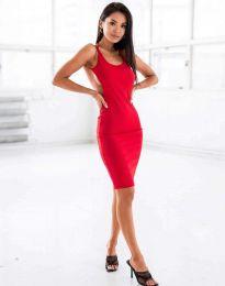 Атрактивна дамска рокля в червено - код 11926