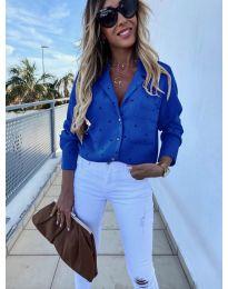 Дамска риза в синьо - код 8050