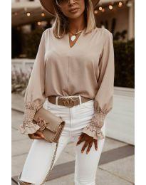 Дамска блуза в бежово - код 4549