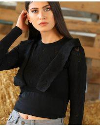 Дамска блуза в черно - код 2214