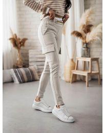 Дамски панталон в бежово - код 5130