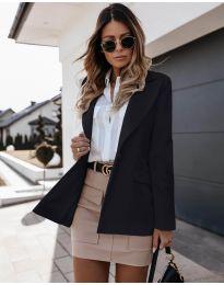 Дамско сако с копче в черно - код 4569