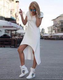 Свободна рокля в бяло - код 5507