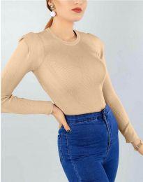 Дамска блуза в бежово - код 374