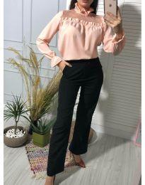 Атрактивна дамска блуза в розово - код 0626