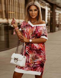 Свободна дамска рокля с атрактивен десен - код 3492 - 2