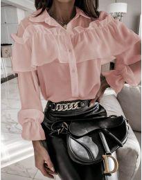 Кокетна дамска риза в розово - код 2433