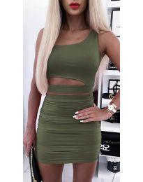 Дамски комплект в маслено зелено - код 5533