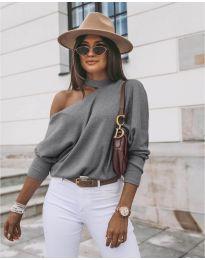 Дамска блуза в сиво - код 5618