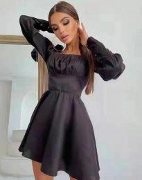 Стилна дамска рокля в черно - код 8150
