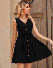Дамска рокля в черно - код 8188