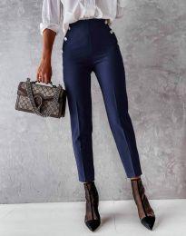 Елегантен дамски панталон в тъмносиньо - код 4895