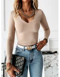 Дамска блуза в бежово - код 4086