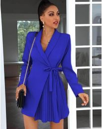 Елегантна рокля в синьо - код 0333