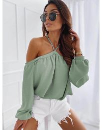 Дамска блуза в цвят мента - код 6561