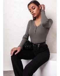 Дамска блуза в масленозелено - код 11564
