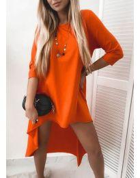 Свободна дамска рокля в оранжево - код 1613