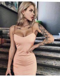 Елегантна рокля в розово - код 4749