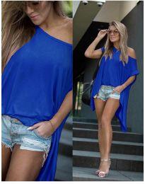 Дамска тениска в  синьо - код 0909