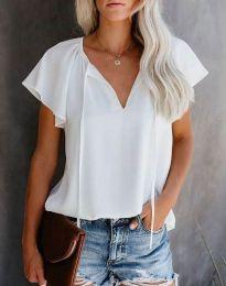 Елегантна дамска тениска в бяло - код 6474