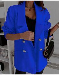 Свободно дамско сако в синьо - код 5868
