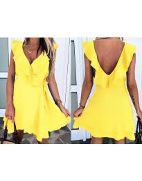 Екстравагантна рокля в жълто - код 7799