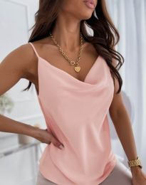 Елегантен дамски топ в розово - код 5345