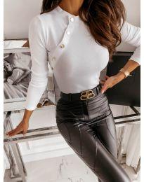 Дамска блуза в бяло - код 41788