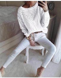 Дамска блуза в бяло - код 6182