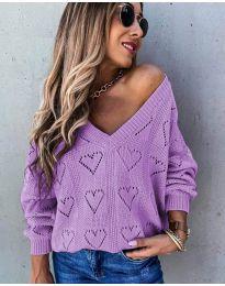 Дамска блуза в лилаво - код 137