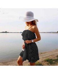 Ефирна рокля в черно - код 4849