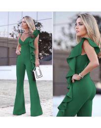 Стилен дамски гащеризон в зелено - код 609