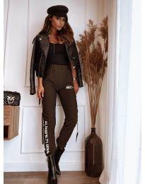 Дамски панталон в кафяво - код 1142