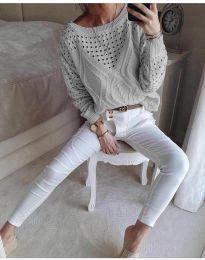 Дамска блуза в сиво - код 6182