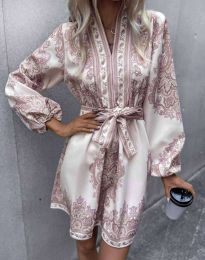Дамска рокля с атрактивен десен - код 4753 - 1