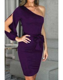 Елегантна рокля в тъмнолилаво - код 0579