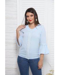 Дамска блуза в светлосиньо - код 0629