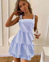 Свободна рокля в светлосиньо - код 0316