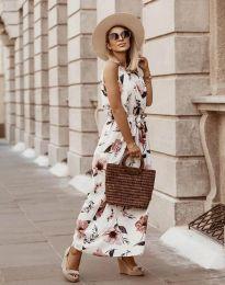 Дълга рокля с атрактивен десен - код 2964 - 4