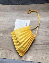 Ефектна дамска чанта в жълто - код B521