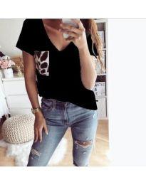 Тениска - код - 3468 - черно