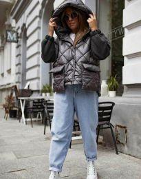 Модерно дамско яке в черно - код 7382