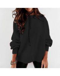 Дамски пуловер в  черно - код 3345
