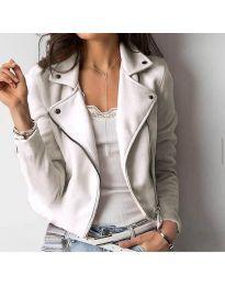 Дамско късо яке в бяло - код 794