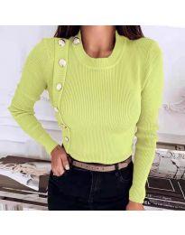 Дамска блуза в жълто - код 9989