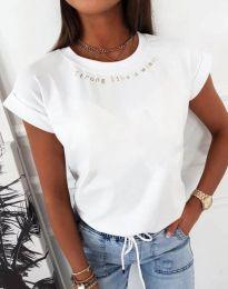 Дамска тениска в бяло  - код 12002