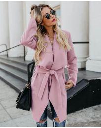 Дамско палто в розово - код 814